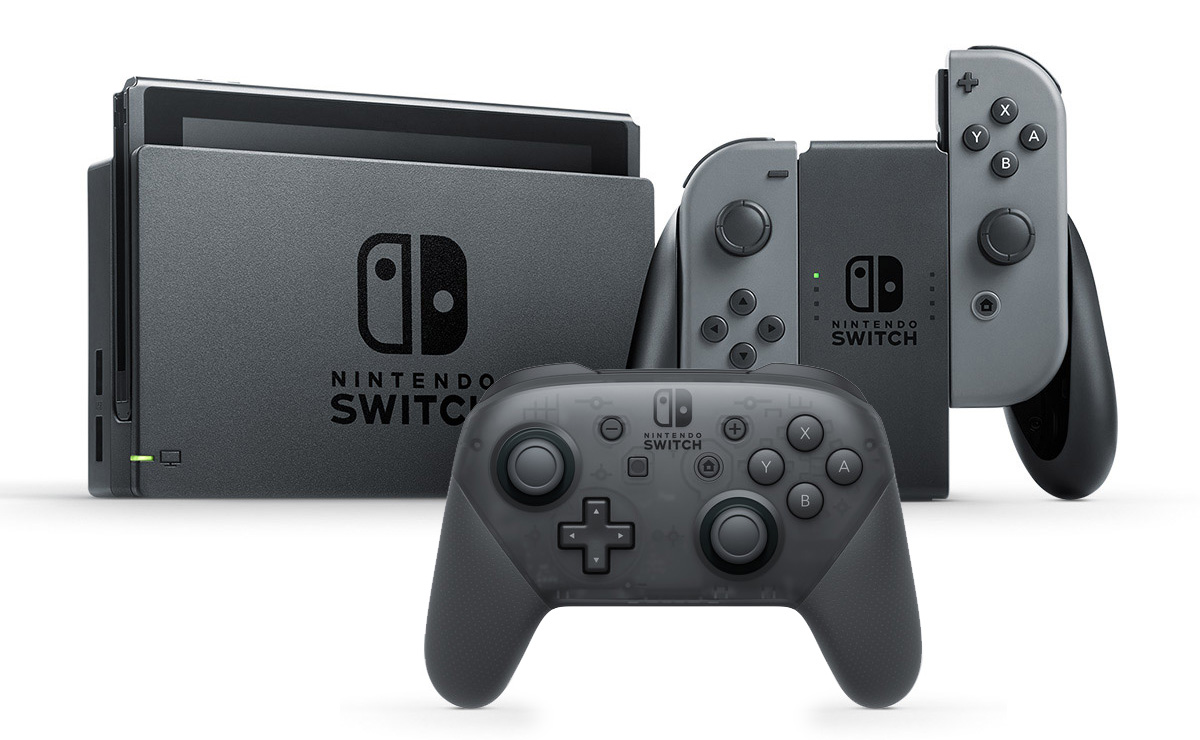 Nintendo Switch Gaming System with Three Games & Pro Controller